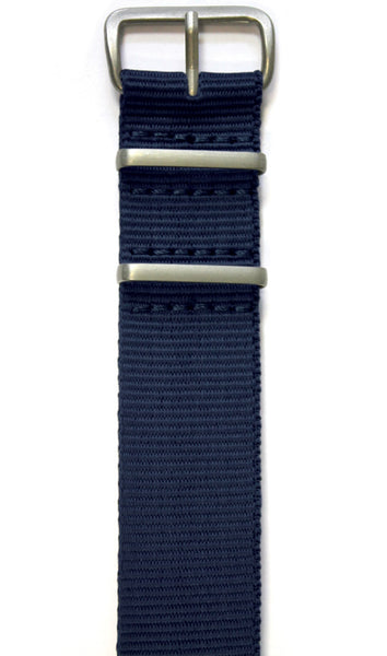 NATO STYLE WATCH STRAP - NAVY BLUE