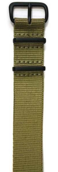 NATO STYLE WATCH STRAP - GREEN WITH BLACK