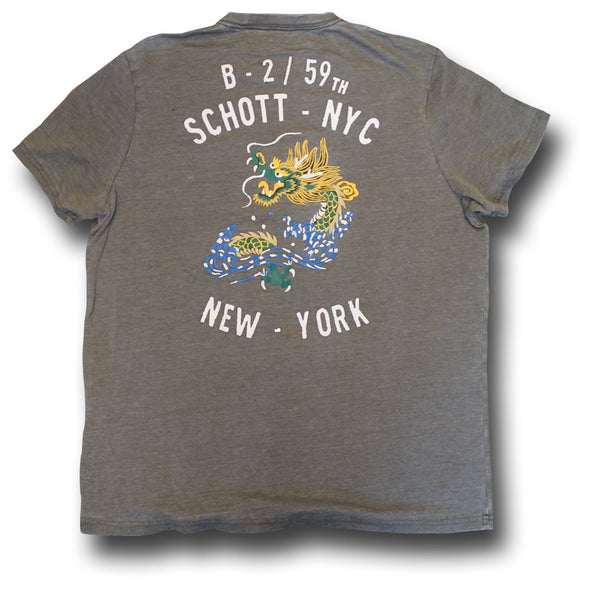 SCHOTT DRAGON T-SHIRT - Silvermans  - 2