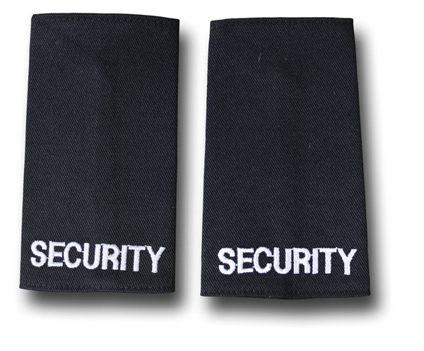 SECURITY BLACK EPAULETTES - Silvermans  - 2