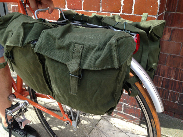 CANVAS BICYCLE PANNIERS - Silvermans  - 2