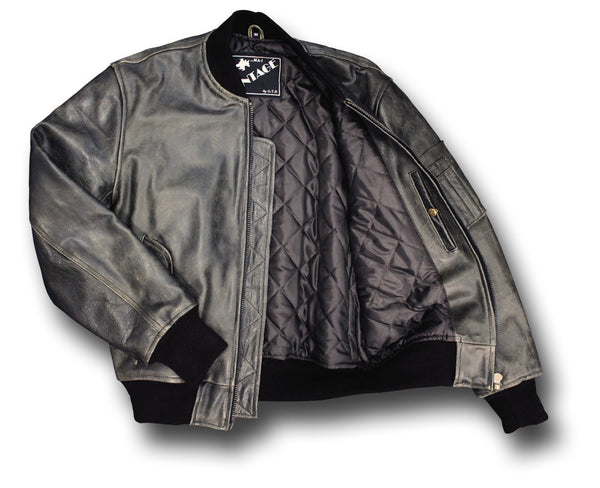 GTH MA1 VINTAGE LEATHER JACKET - Silvermans  - 3