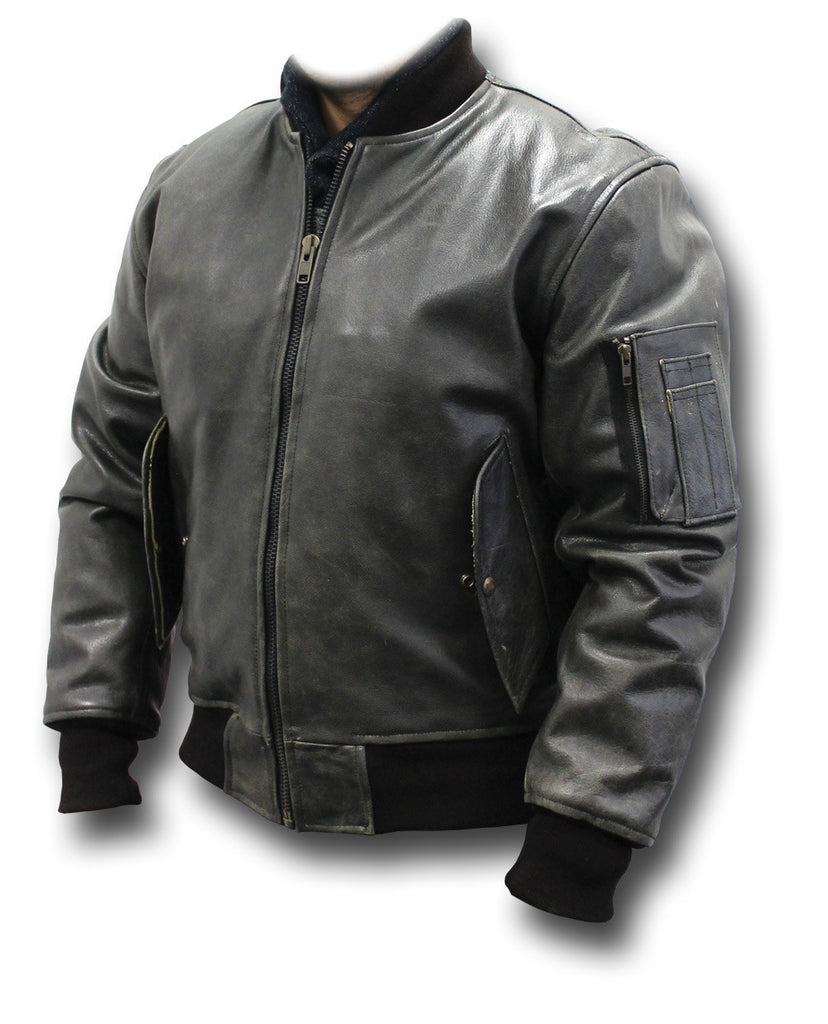 Gth Ma1 Vintage Leather Jacket Silvermans