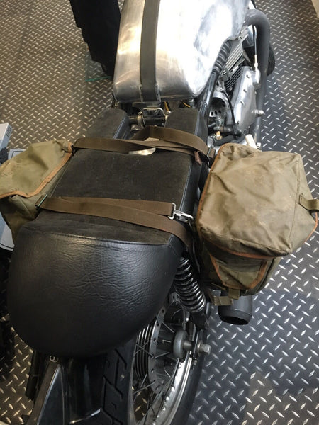 NYLON MOTORCYCLE PANNIERS GRN - Silvermans  - 2