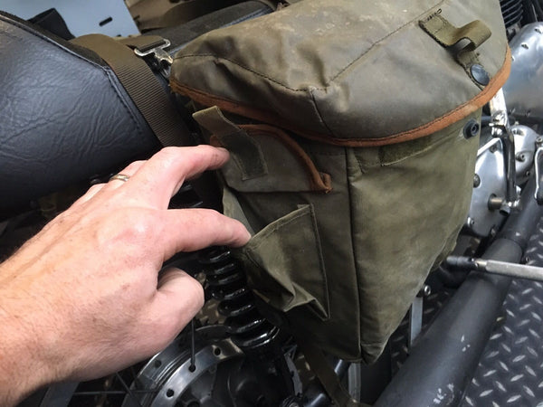 NYLON MOTORCYCLE PANNIERS GRN - Silvermans  - 6