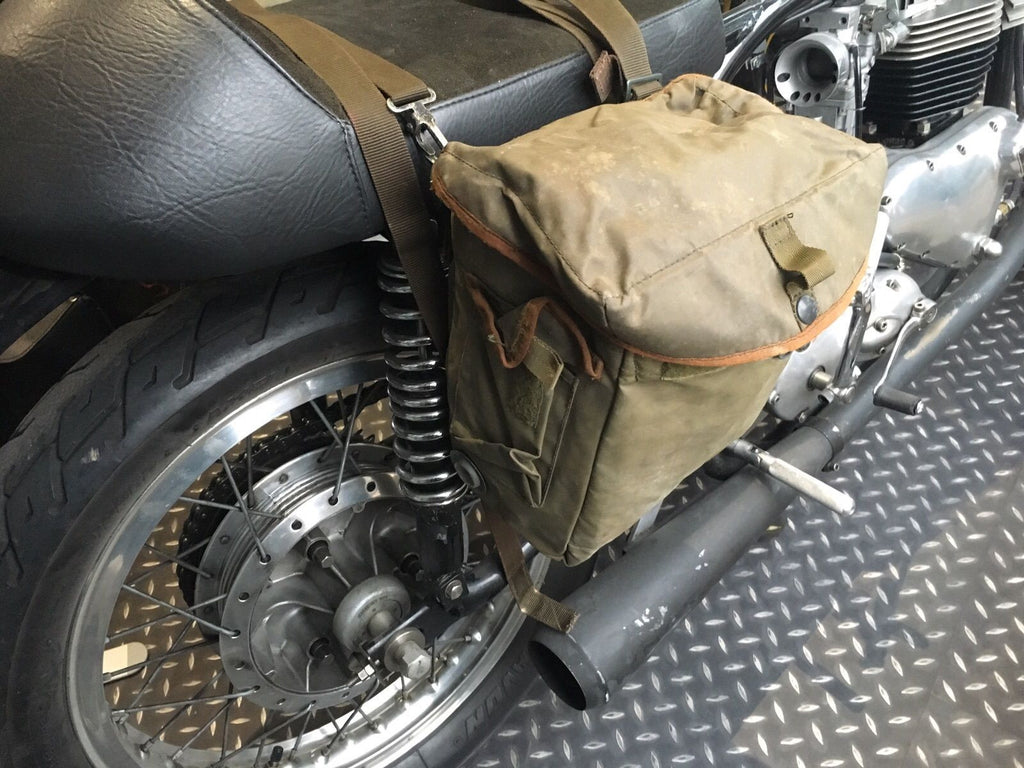 Nylon Motorcycle Panniers Grn Silvermans