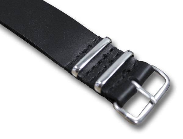 LEATHER NATO STYLE WATCH STRAP - Silvermans  - 2