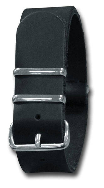 LEATHER NATO STYLE WATCH STRAP - Silvermans  - 3