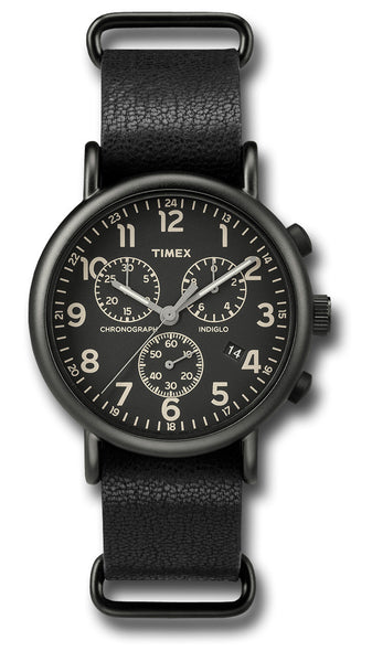 TIMEX WEEKENDER CHRONO LEATHER - Silvermans  - 2