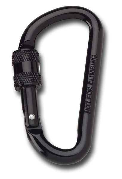 SCREW LOCKING CARABINER BLACK - Silvermans