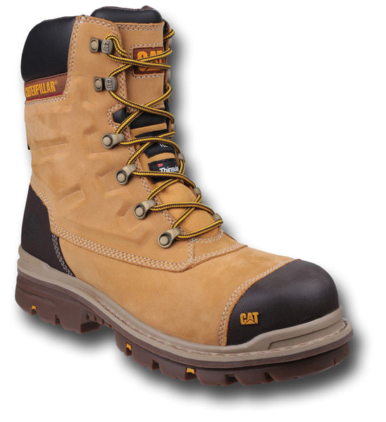 CAT PREMIER 8-INCH WORK BOOTS - TAN