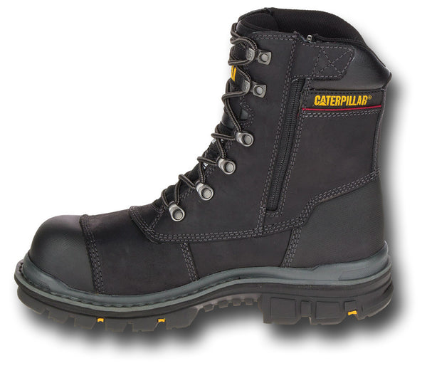 CAT PREMIER 8-INCH WORK BOOTS - SIDE ZIP