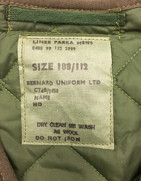 LINER FOR COLD WEATHER PARKA - LABEL