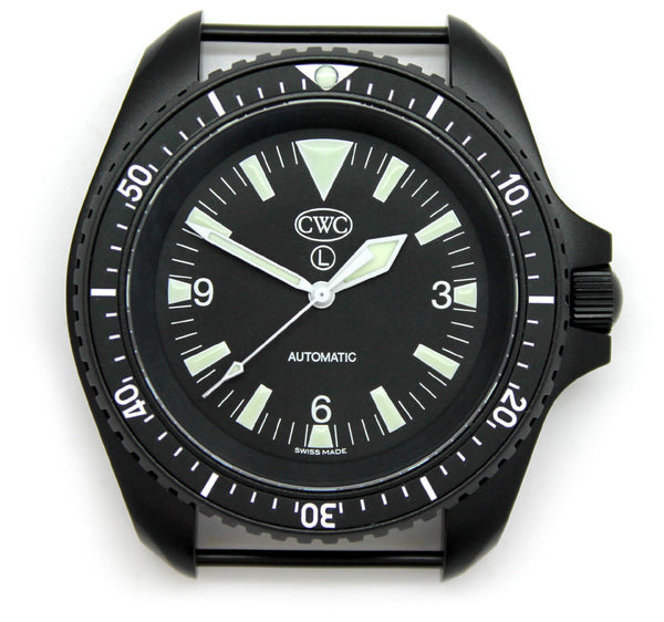 CWC BLACK AUTO DIVERS WATCH ND - FRONT