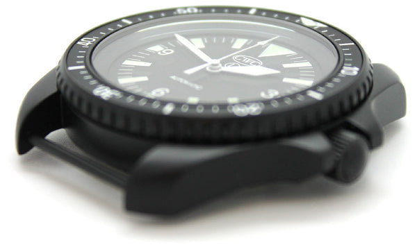 CWC BLACK AUTO DIVERS WATCH ND - SIDE