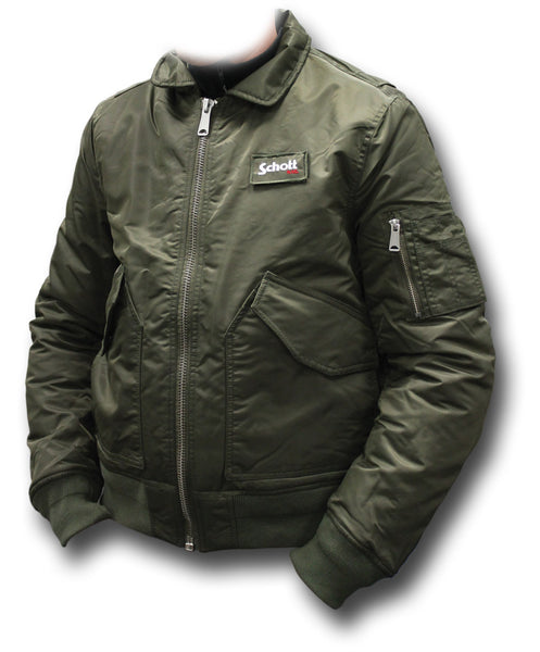 SCHOTT CWU 210 FLYING JACKET - KHAKI GREEN