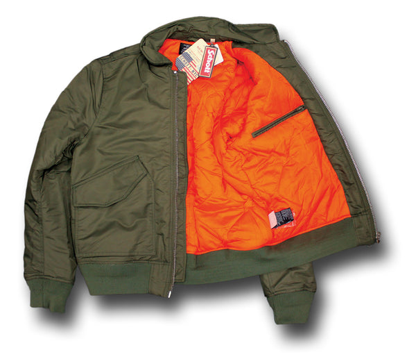 SCHOTT CWU 210 FLYING JACKET - ORANGE LINING