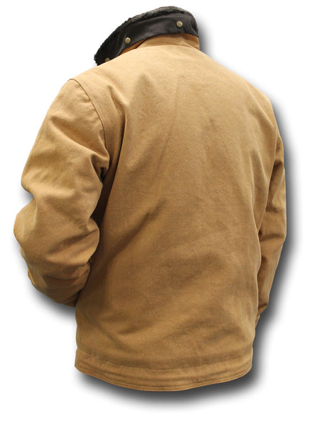 USN TYPE N1 DECK JACKET - TAN, BACK
