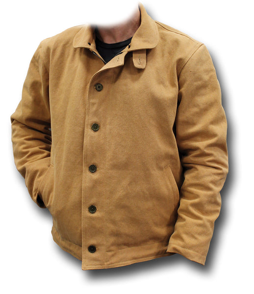 USN TYPE N1 DECK JACKET - TAN, COLLAR OFF