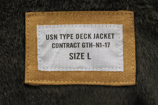 USN TYPE N1 DECK JACKET - TAN, INSIDE LABEL