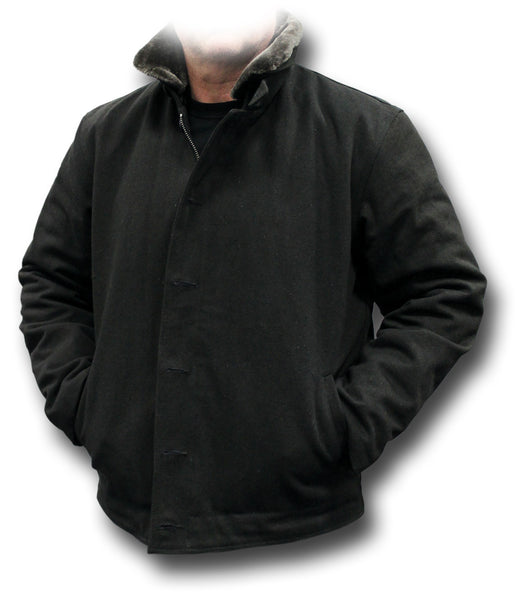 USN TYPE N1 DECK JACKET - BLACK
