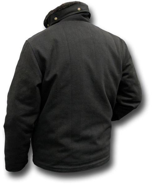 USN TYPE N1 DECK JACKET - BLACK, BACK