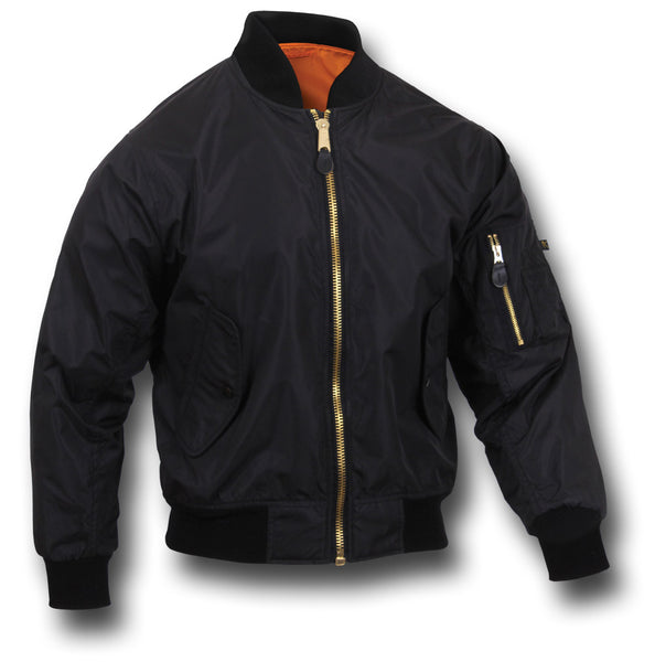 ROTHCO LIGHTWEIGHT MA1 JACKET - BLACK