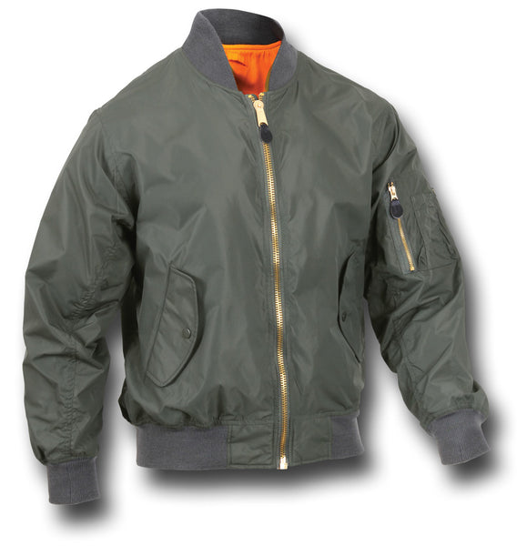 ROTHCO LIGHTWEIGHT MA1 JACKET - GREEN