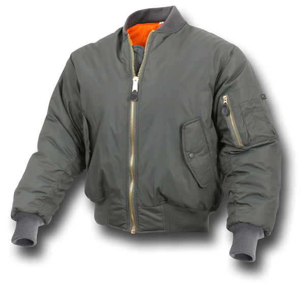 ROTHCO MIDWEIGHT MA1 JACKET - GREEN