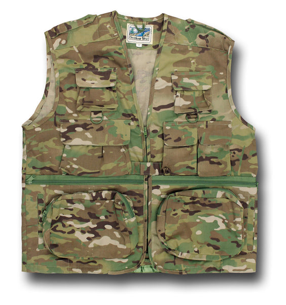 OUTDOOR TRAVEL VEST - MULTICAM