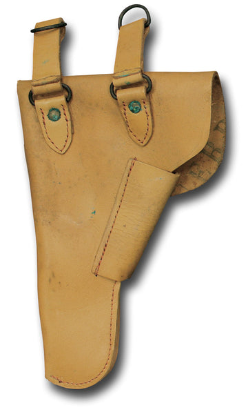FRENCH MILITARY HOLSTER - TAN DESERT / DOUBLE LOOP - BACK