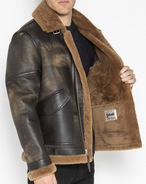 SCHOTT LCWEAPON18 SHEEPSKIN JACKET - OPEN