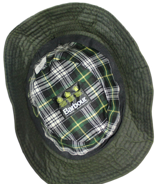 BARBOUR A115 WAXED BUCKET HAT - INSIDE