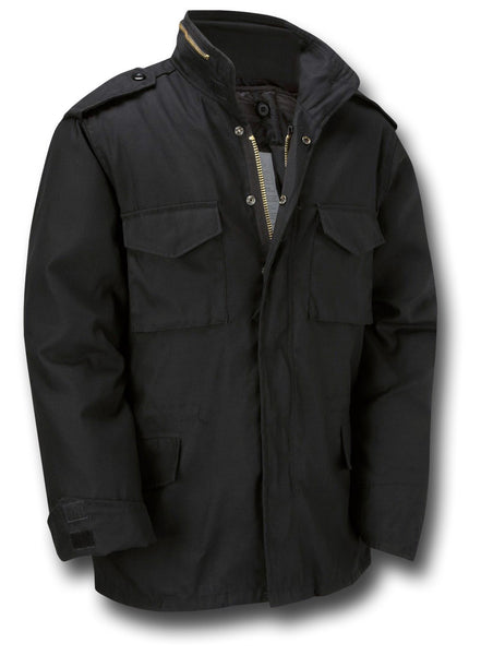 M65 STYLE JACKET WITH LINER - BLACK