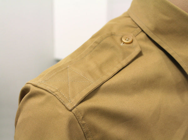 CWCW CHINO SHIRT LONG-SLEEVE - KHAKI - EPAULETTES
