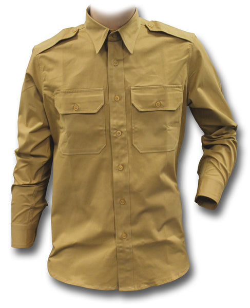 CWCW CHINO SHIRT LONG-SLEEVE - KHAKI