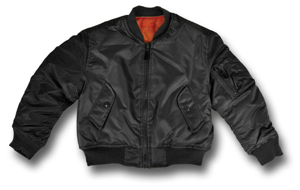 KIDS MA1 PILOTS JACKET - BLACK