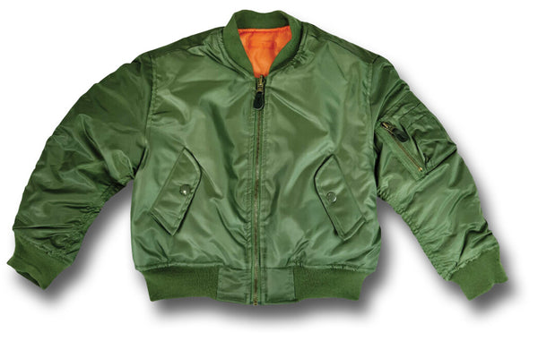 KIDS MA1 PILOTS JACKET - GREEN
