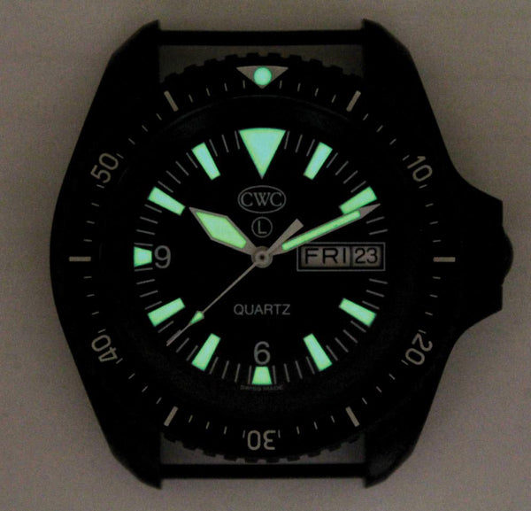 CWC SBS MK2 SAPPHIRE WATCH - LUMINOUS MARKINGS