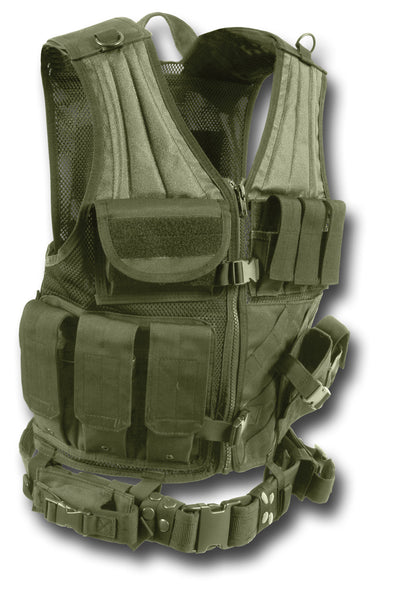 MOLLE CROSS DRAW TACTICAL VEST - Silvermans  - 3