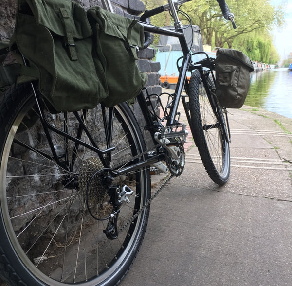 CANVAS REAR BICYCLE PANNIERS