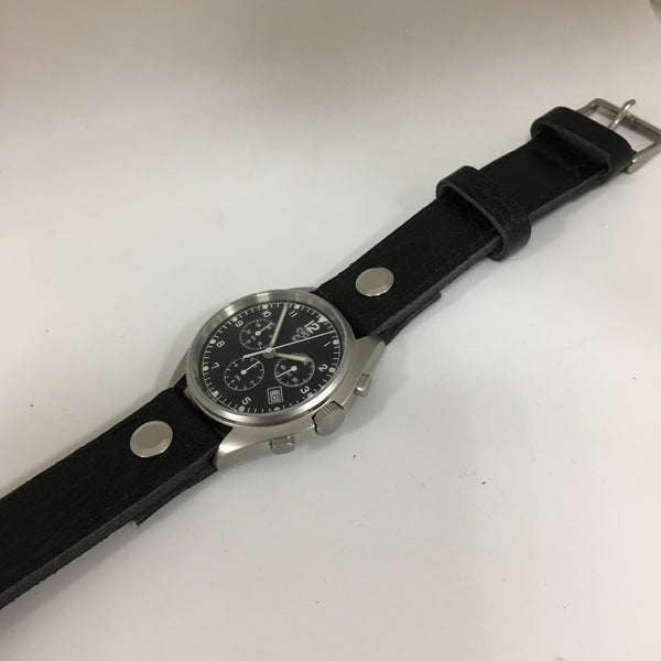 LEATHER AVIATOR WATCH STRAP