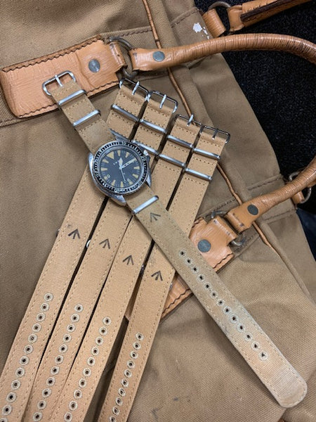 CWC VINTAGE CANVAS NATO STRAP - WITH ARROW STAMP