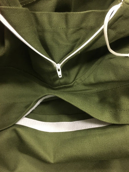 R AND I TRAINING SMOCK GREEN - ZIP / POCKET