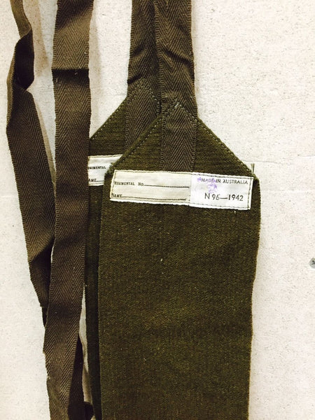 WWII DATED KHAKI PUTTEES - Silvermans  - 2