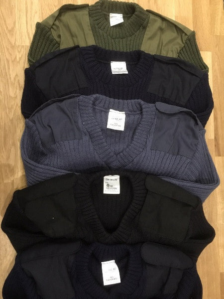 CREW NECK NAVY WOOLLY PULLY
