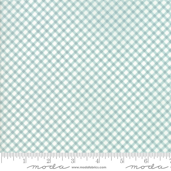 Moda Fabrics Amberley Gingham Aqua By The 1/2 Yard