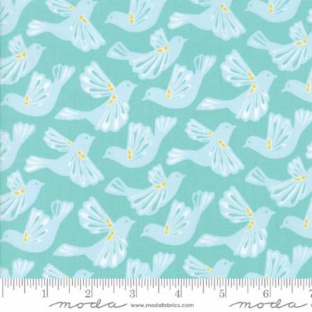 Moda Kate Spain Early Bird By The 1/2 Yard Flock Aqua