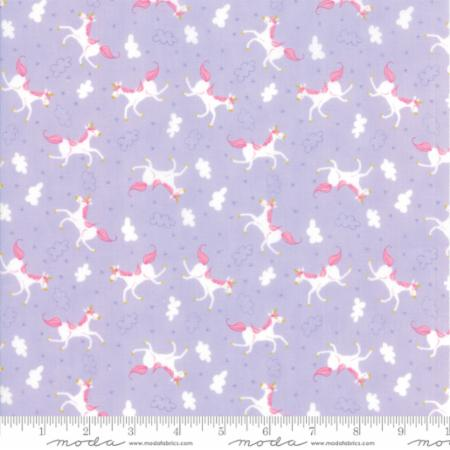 Moda Fabrics By The 1/2 Yard Stacy Iest Hsu Purple Unicorns