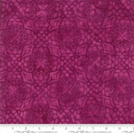 Moda by the 1/2 yard,  Kate Spain, Longitude Batiks, Magenta Medallions